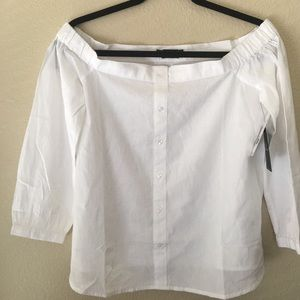 Volcom white blouse top size small